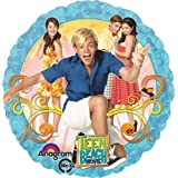 ONE balloon TEEN BEACH MOVIE new FOIL round PARTY favor GIFT decoration by Anagram