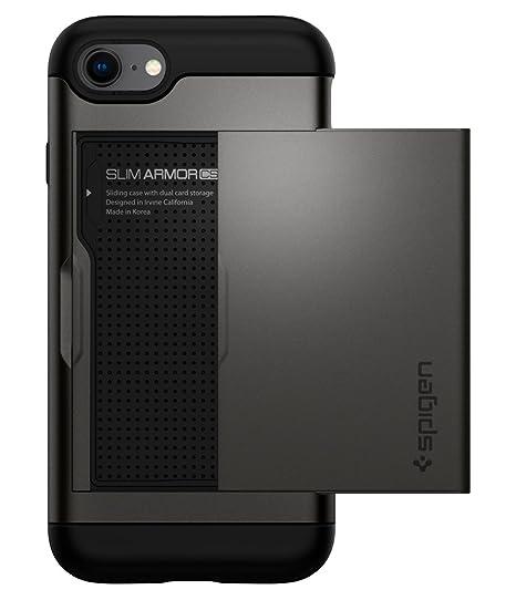 082f78383 Amazon.com: Spigen Slim Armor CS designed for Apple iPhone 8 Case (2017) /  designed for iPhone 7 Case (2016) - Gunmetal: Cell Phones & Accessories
