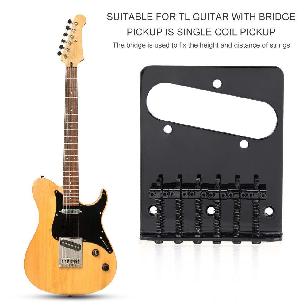 Dilwe Telecaster Guitarra Puente, Metal Puente de Guitarra con Llave Tornillos para TL Tele Guitarra Eléctrica de Telecaster de Pickup de Bobina ...