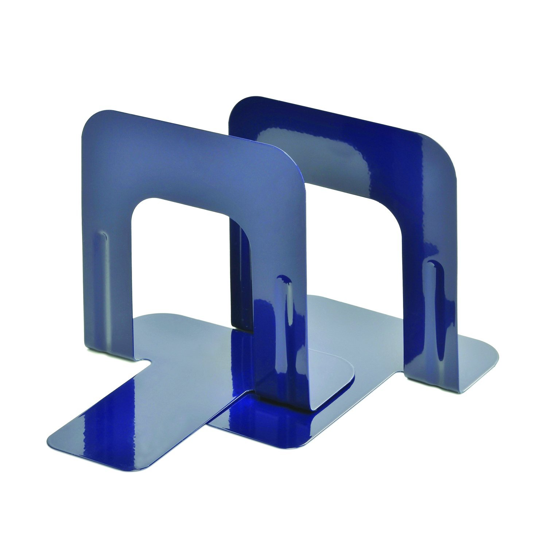 STEELMASTER Economy Steel 5 Inch Bookends, 1 Pair, Cobalt Blue (241005008) by STEELMASTER
