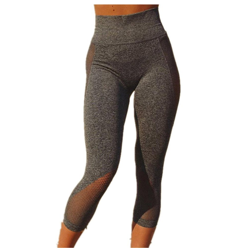 Women Leggings, Gillberry Women Sports Trousers Athletic Gym Workout Fitness Yoga Leggings Pants L) WY5462