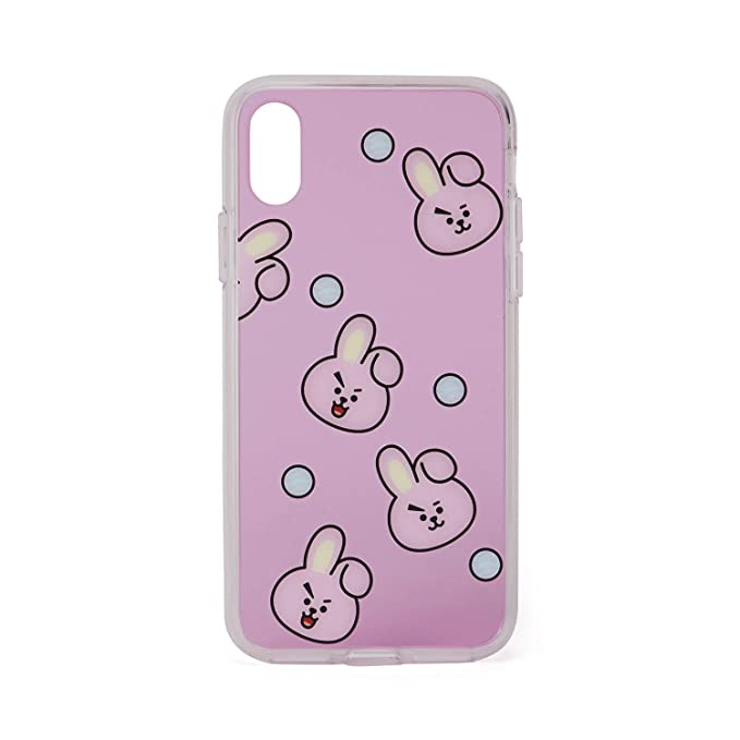 online retailer 0b082 050b4 BT21 Official Merchandise by Line Friends - Cooky Pattern TPU Case for  iPhone X Case, Pink