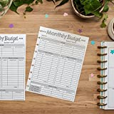 Monthly Budget Forms for the Happy Planner, 1 Year Supply