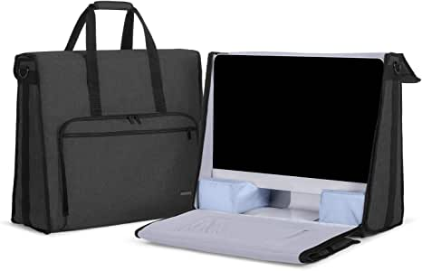 """Damero Carrying Tote Bag Compatible with Apple 21.5"""" iMac Desktop Computer, Travel Storage Bag for iMac 21.5-inch and Other Accessories, Black"""