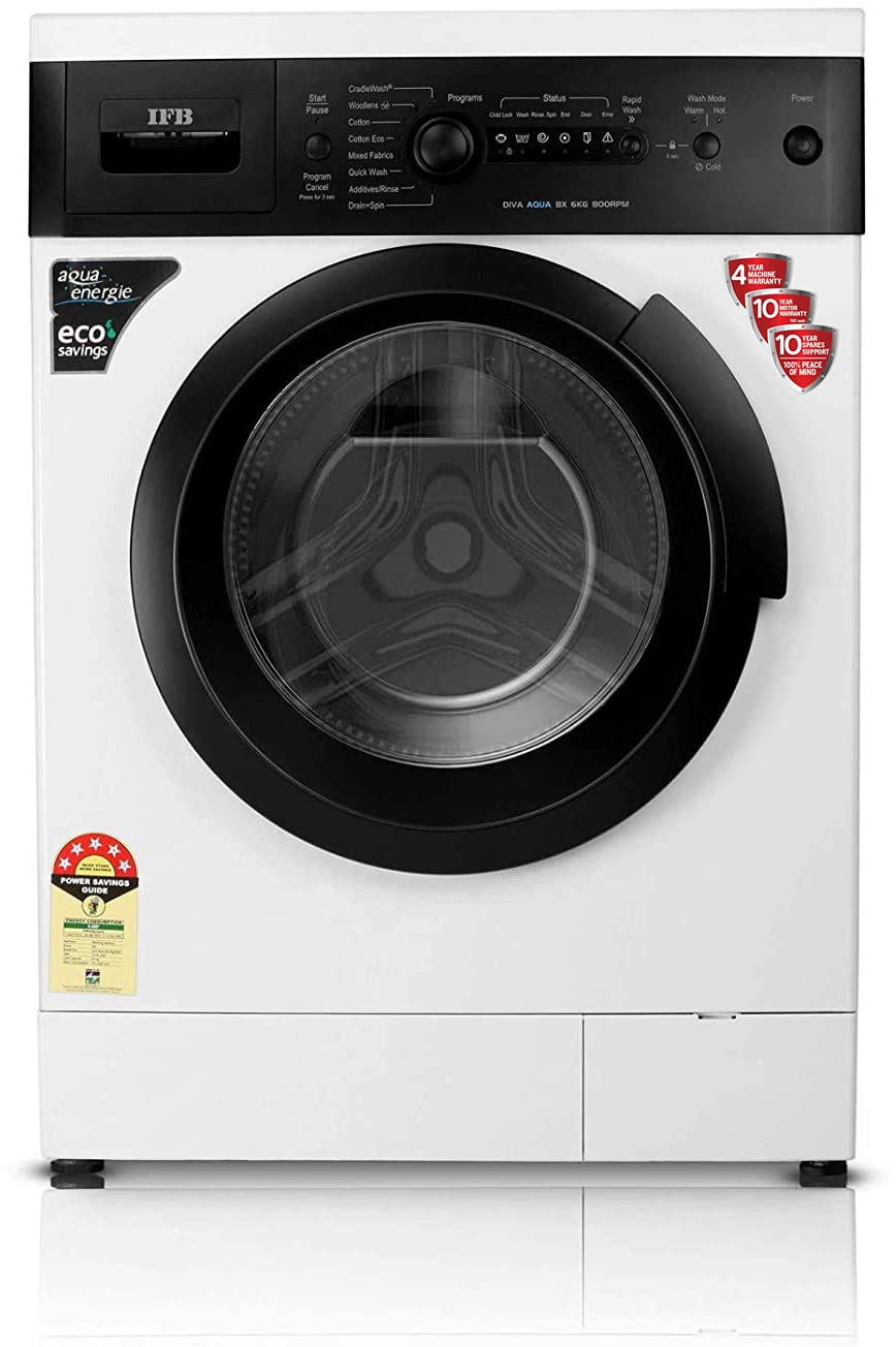 6KG IFB Fully-Automatic 5 Star Front Loading Washing Machine In-Built Heater