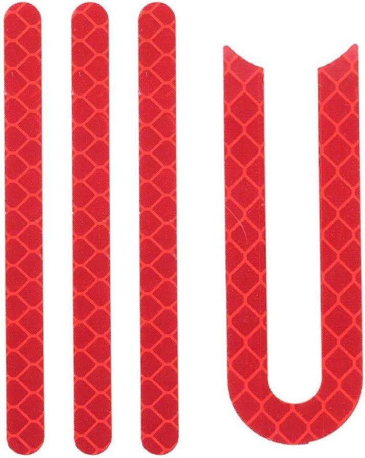 WARMWORD Reflective Strip Sticker Pegatina de Goma en la Rueda Delantera y Trasera para Xiaomi Mijia M365 Sticker Scooter Piezas de Repuesto Rueda Pegatina Reflectante