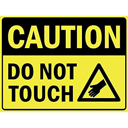 Caution Do Not Touch Póster de Pared Metal Creativo Placa ...