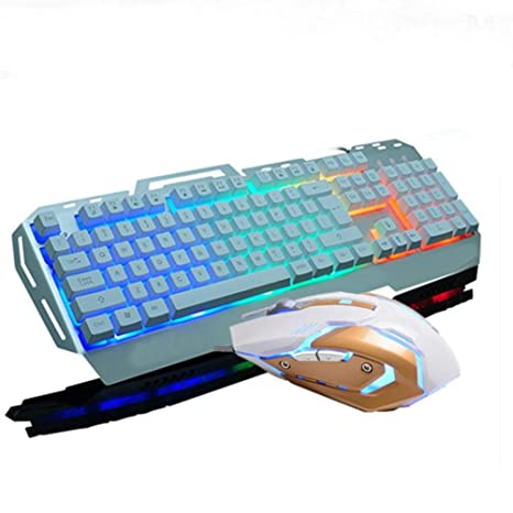 YY Metal mecánica mano toque teclado ratón teclado teclado ratón mouse ratón teclado , k3 silver