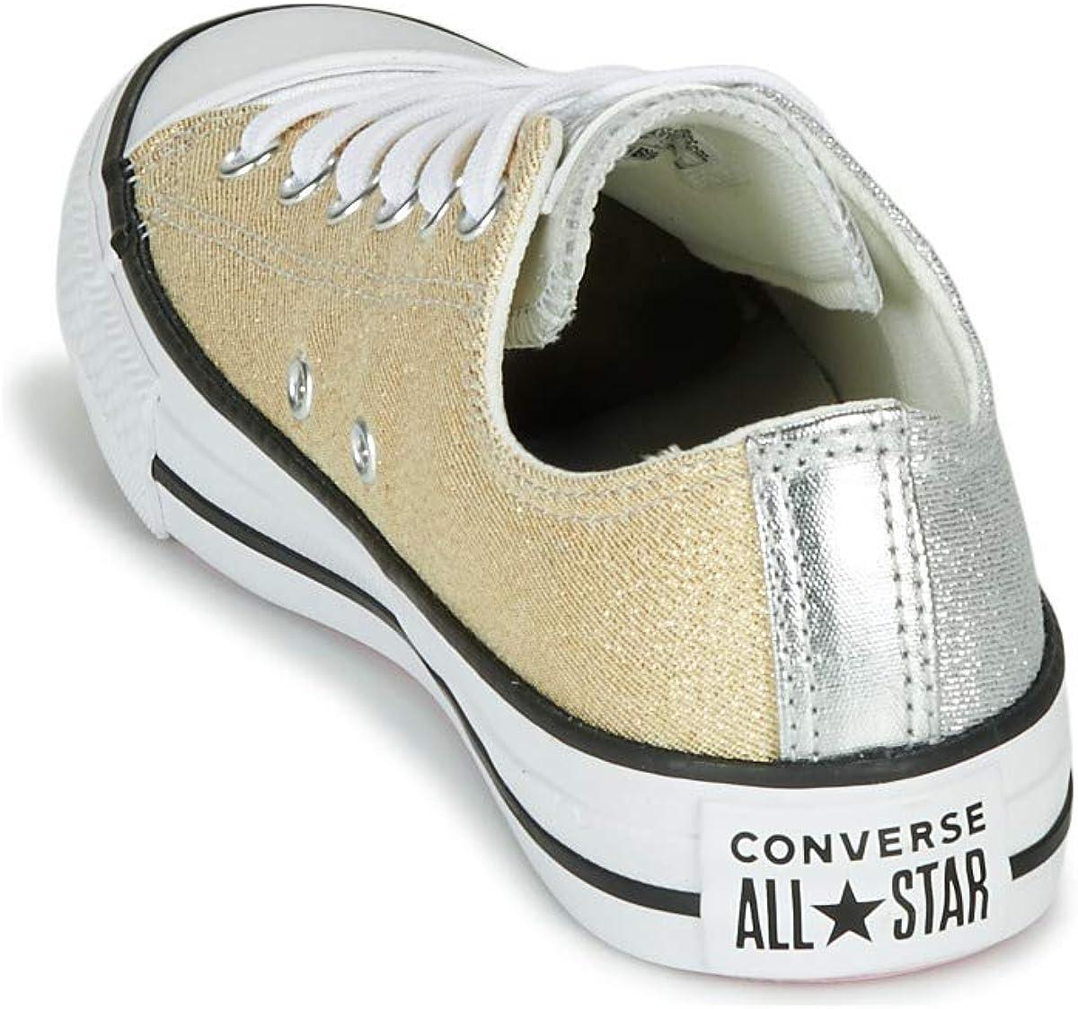Converse Chuck Taylor All Star Metallic Ox ArgentOrBlanc