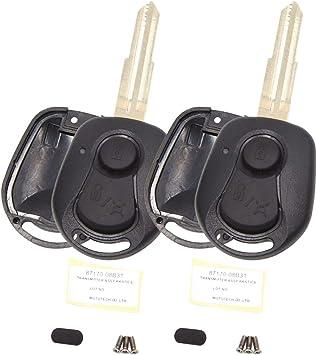 2x Black Silicon key fob cover case for SSANGYONG ACTYON KYRON REXTON 2 buttons