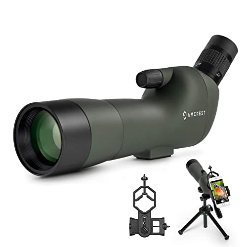 Amcrest 20-60 x 60mm Spotting Scope with Tripod and Digiscope Adapter