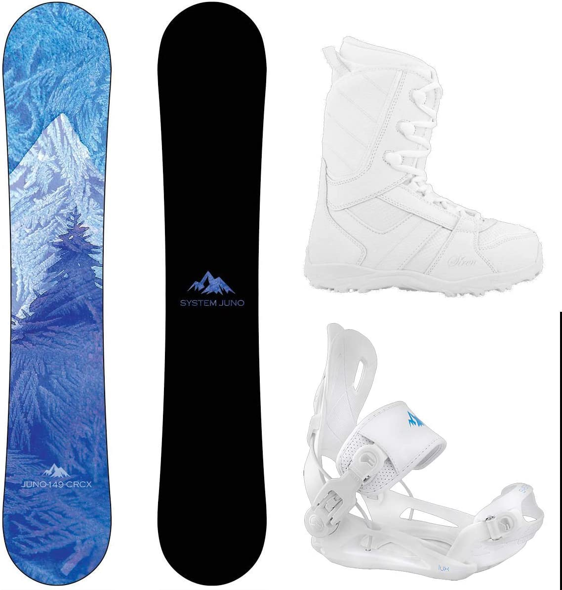 System 2021 Camp Seven Juno Womens Complete Snowboard Package
