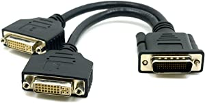 DMS 59 Pin Dual 2 DVI Monitors, CABLEDECONN DMS 59 Pin Male to Two DVI 24+5 Female Dual Monitor Extension Cable Adapter for Lhf Graphics Card (dus 59 pin Dual dvi)
