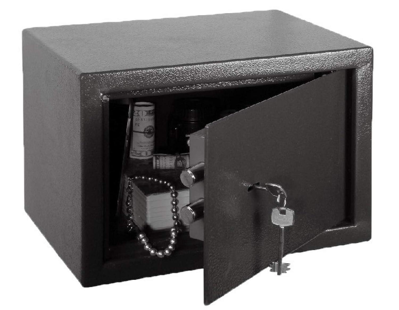 Caja fuerte para empotrar en la pared, mecánica, con cerradura, para armario, hotel, portátil, pequeña, 23 x 17 x 17 cm, de acero: Amazon.es: Industria, empresas y ciencia