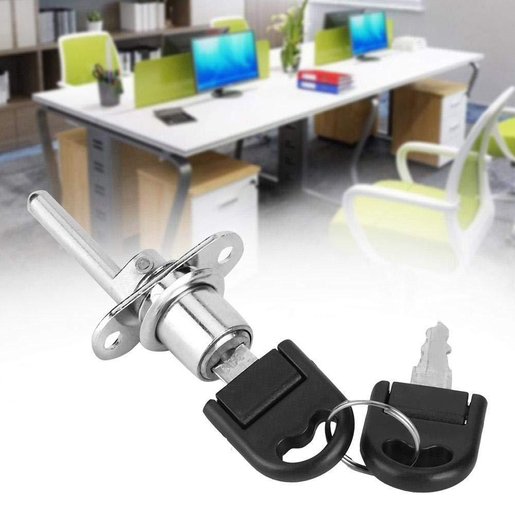 Duokon 2 Piezas cerraduras de gabinete Muebles caj/ón Armario archivador Cerradura con Llaves Seguridad de Oficina 16mm-Negro