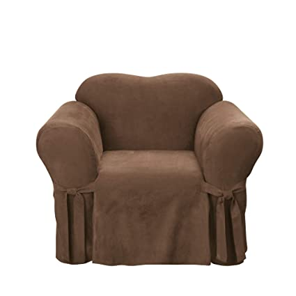 Beau Amazon.com: Sure Fit Soft Suede 1 Piece   Chair Slipcover   Chocolate  (SF34539): Home U0026 Kitchen
