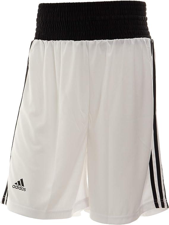 Adidas Base de pantalones cortos de boxeo - blanco: Amazon.es ...