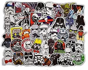 50 قطعة مجموعة من ملصقات حرب النجوم PVC ، على الجليد سيارة تصميم الأمتعة الثلاجة الكمبيوتر المحمول لعبة الفينيل صائق ديكور المنزل ملصقات رائعة