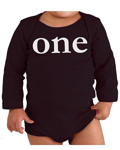 29c7dd7ae Custom Kingdom Baby Boys and Girls One Year Old First Birthday Bodysuit  (Long-Sleeved