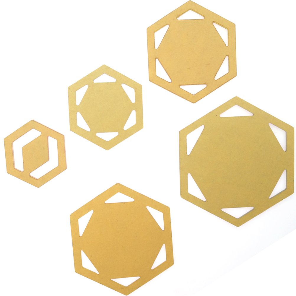 SUPVOX 5pcs Quilting Templates Hexagon Quilting Rulers Patchwork Spinning Embroidery Model DIY Sewing Tool Set