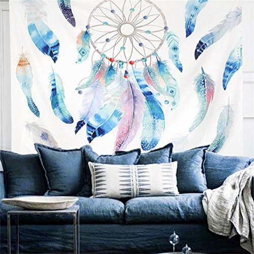 PYHQ Dream Catcher Tapestry Wall Hanging Urban Hippie Bohemian Boho Art Dorm Room Party Decor,Indian Feather Theme,Thick Fabric,Home Family (Zebra Pink Wall Hangings)