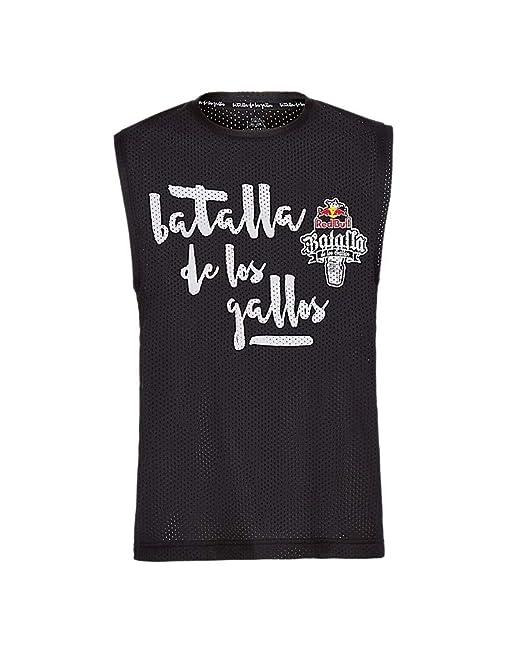Red Bull Camiseta Batalla de los Gallos Original Ropa de Hombre sin Mangas  en Negro Hip Hop Rap Freestyle Streetwear 2bbaf96d53a