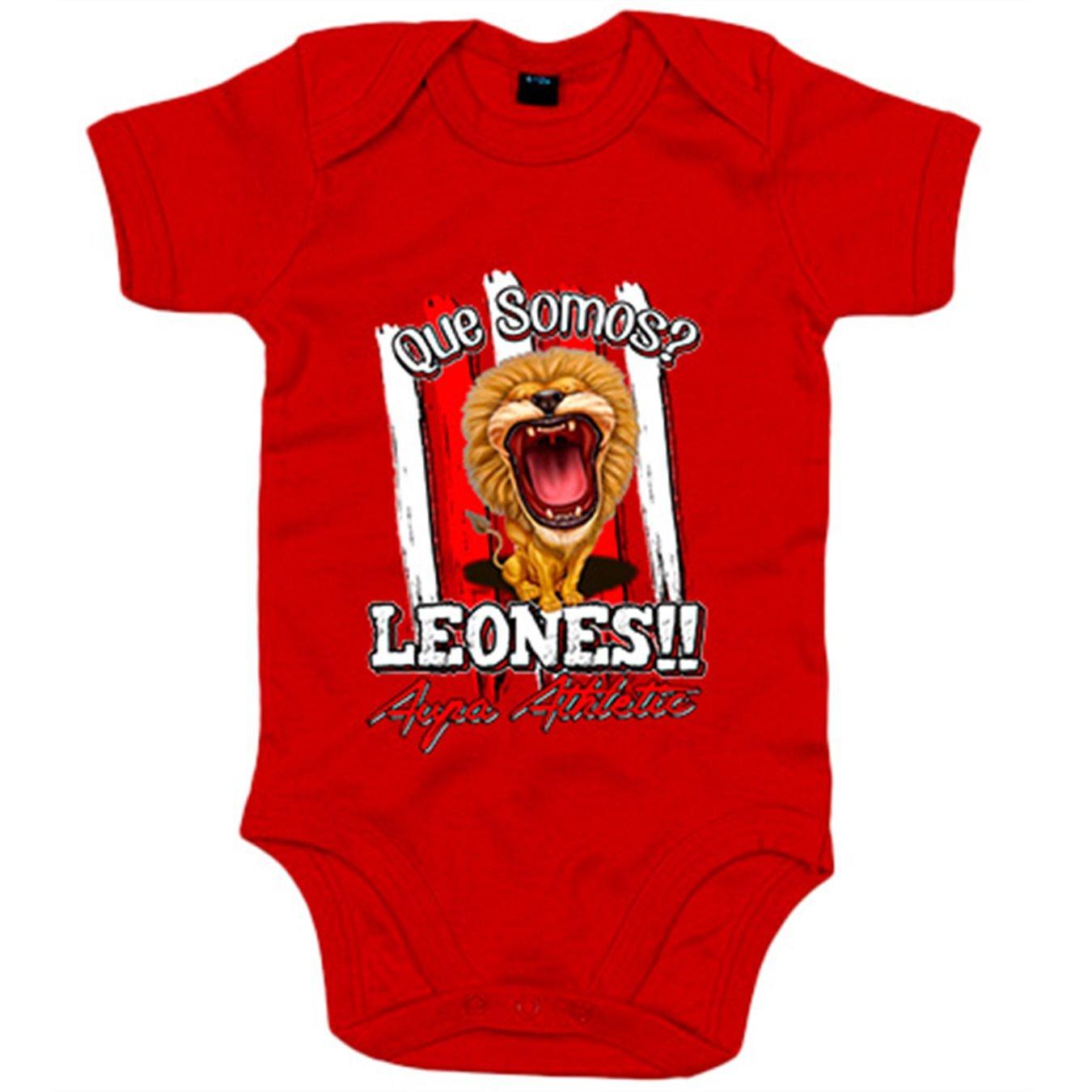 Body bebé qué somos Leones Aupa Athletic fútbol Bilbao - Blanco 9a0123b80b5b6