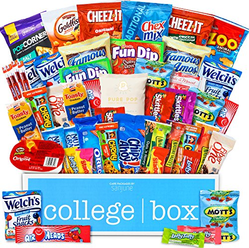 CollegeBox - Deluxe Snacks Care Package - Chips, Cookies, Candy Assortment Bundle Gift Pack and Variety Box (50 Count)
