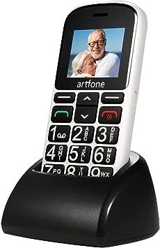 artfone CS188 Teléfonos móviles para Personas Mayores con Teclas Grandes, teléfono móvil para Personas Mayores con botón SOS y Base de Carga, fácil de ...