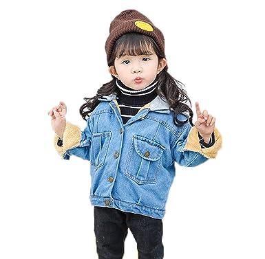 Moda casual primavera otoño manga larga Niña Denim jacket