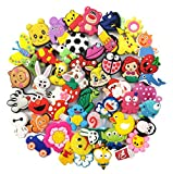 YAOYAO Different 50 Pcs PVC Shoe Charms fit for Bands Bracelet Wristband