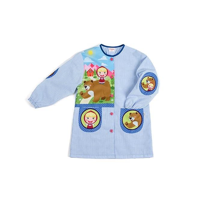 Dyneke Bata escolar botón Masha y el oso (personalización opcional gratuita con nombre bordado)