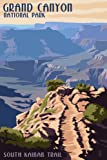 South Kaibab Trail - Grand Canyon National Park (12x18 Art Print, Wall Decor Travel Poster)