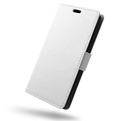 SLEO Funda para OnePlus 5 Carcasa Libro de Cuero Ultra Delgado Billetera Cartera [Ranuras de Tarjeta,Soporte Plegable,Cierre Magnético] Case Flip ...