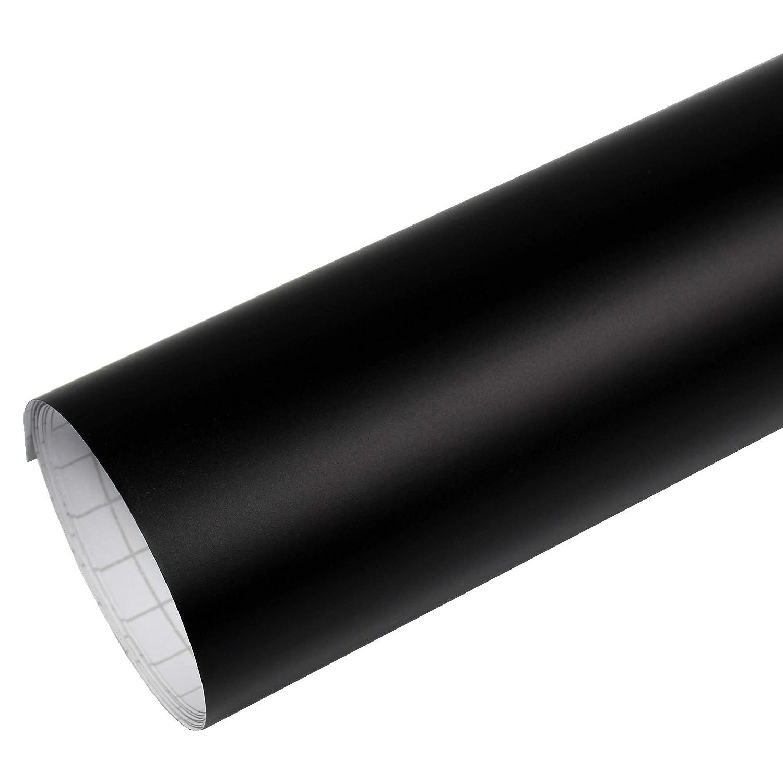 Rapid Teck/® Matt Schwarz Folie Serie 560z schwarz Matte Autofolie selbstklebend Luftkanal