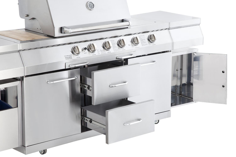 Außenküche Mit Gasgrill : Allgrill gasgrill aussenküche professional ii mit grillspieß und