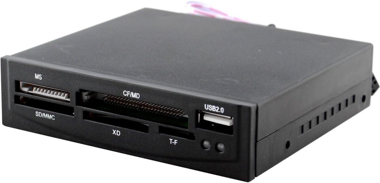 yan 3.5 All-in-One Internal Flash Memory Card Reader USB 2.0 Hub for Floppy Bay