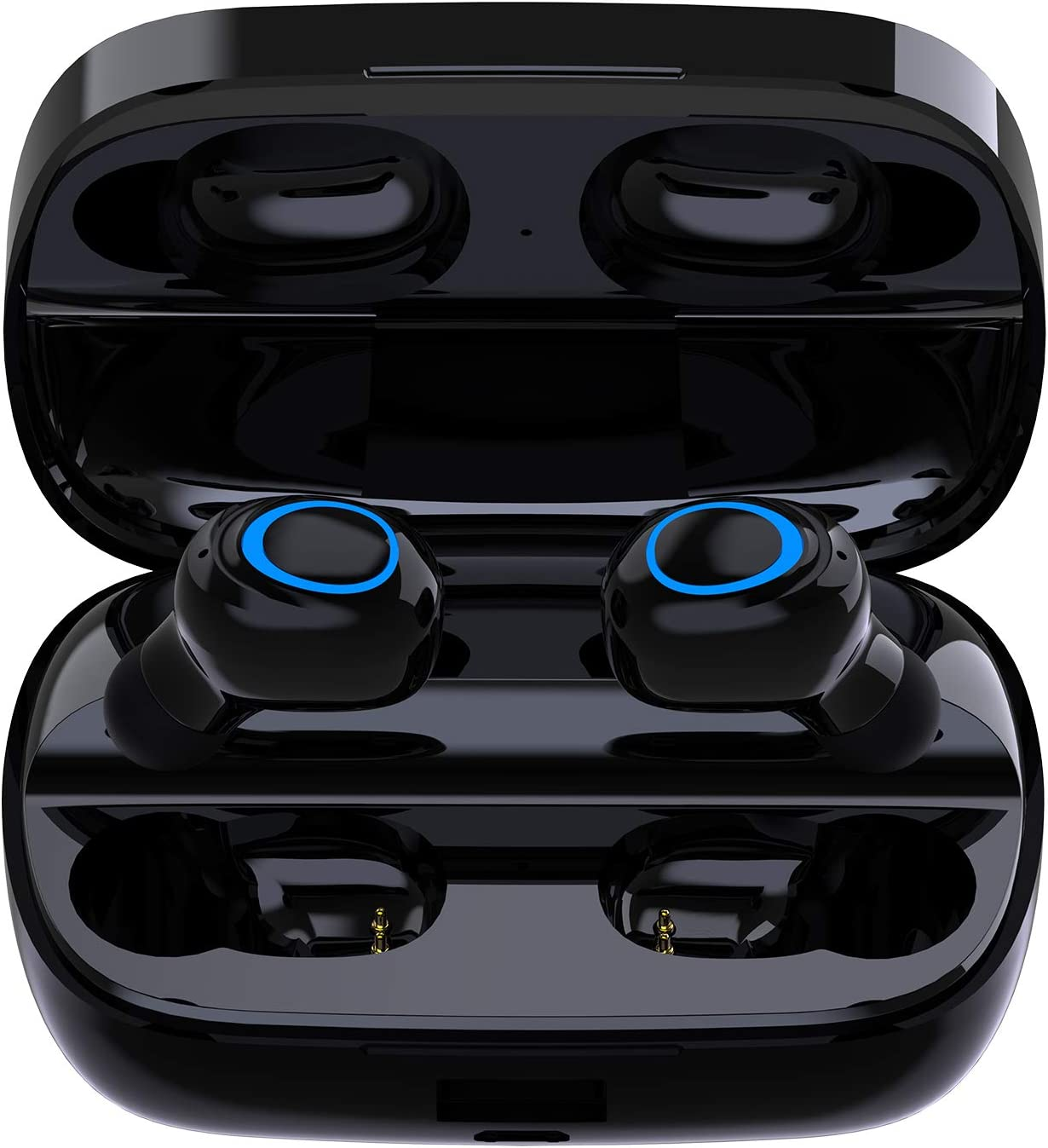 Wireless Earbuds, UNIOJO TWS 3D Stereo Sound Bluetooth Headphones Mini in-Ear Wireless Earphone Built-in Mic, with 1800mAh Charging Case 80 Hrs Playtime