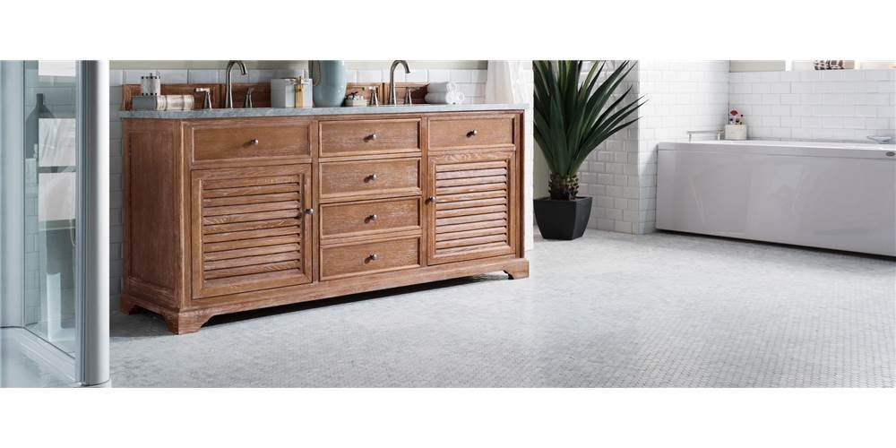 72 in. Double Vanity Cabinet in Driftwood Finish by James Martin Vanities