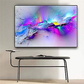 Acuarela abstracta Arrebato Nieve Montaña Pintura al óleo sobre lienzo Carteles e impresiones Imagen de arte de pared para sala de estar- 60x60cm sin marco: Amazon.es: Bricolaje y herramientas
