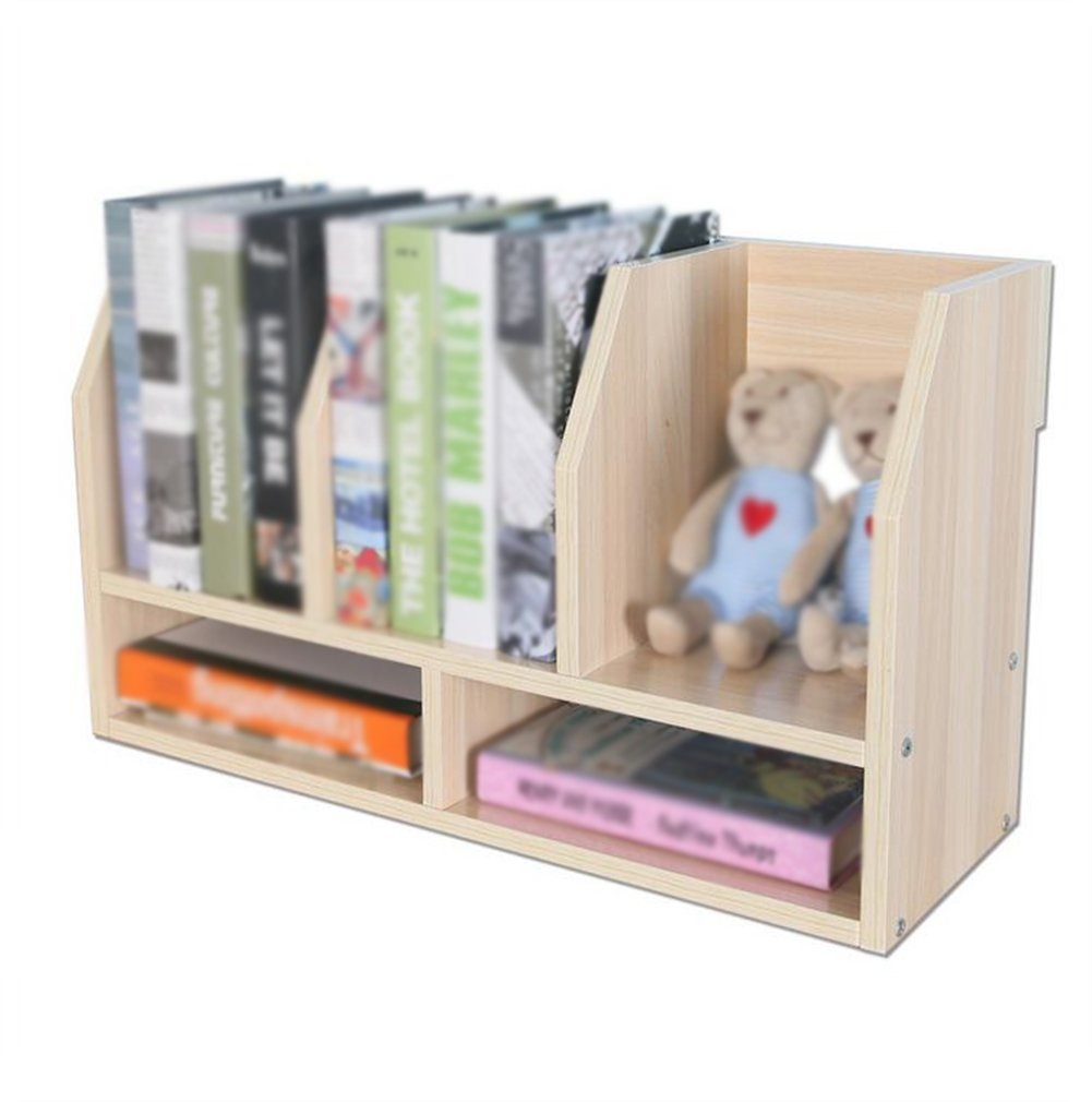 Utility Racks Desk Shelves Children's Easel Small Office Storage Shelves Desktop Bookcase ( Color : Brown )