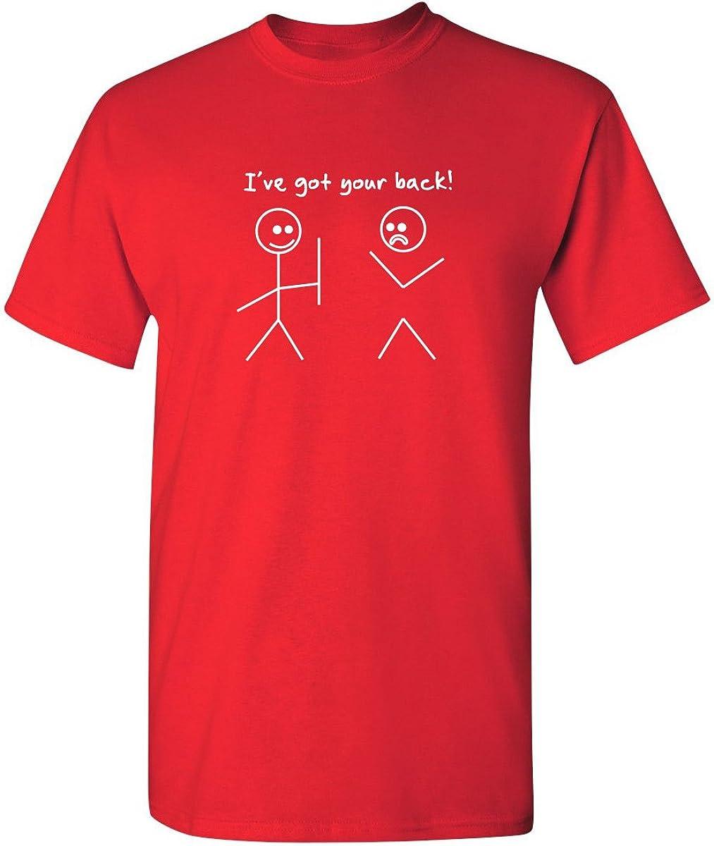 I Got Your Back Stick Figure Friendship Novelty Sarcasm Teens Funny T Shirt