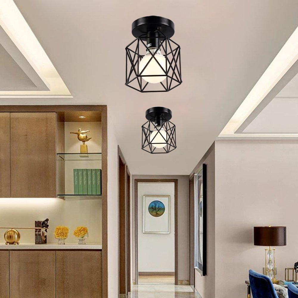 SODIAL Retro luces empotradas en el techo de metal luces empotradas en el techo de metal luces de techo