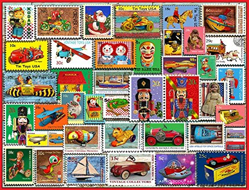 All Jigsaw Puzzles Christmas Toy Stamps - 1000 Piece Jigsaw Puzzle