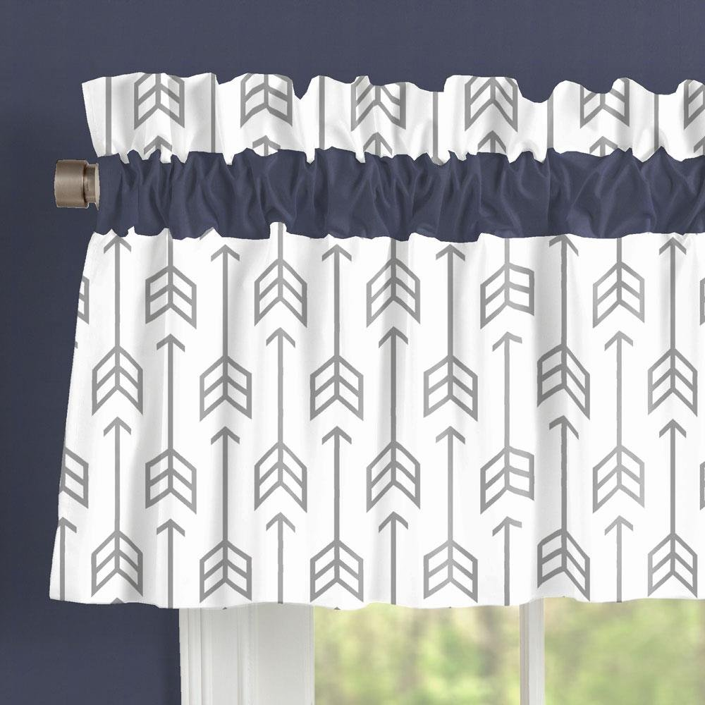 Carousel Designs Cloud Gray Arrow Window Valance Rod Pocket by Carousel Designs