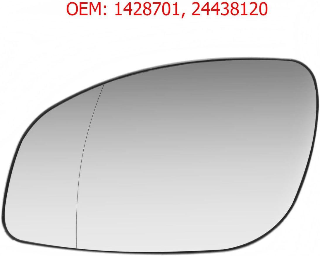 Carjoy 650470 Außenspiegel Glas Beheizbar Weit Winkel Spiegelglas Links Fahrerseite Für Vectra C Signum Oem 1428701 24438120 Auto