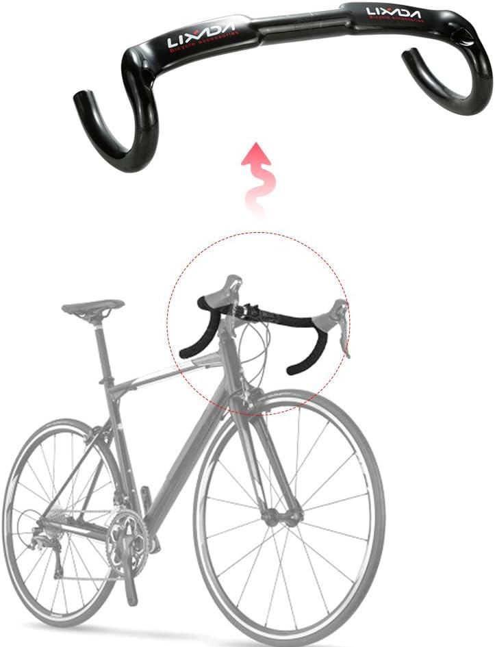Lixada Manillar para Bicicletas MTB Manillar Descenso de Fibra de Carbon Ultraligero Accesorios para Bicicletas 31.8mm: Amazon.es: Deportes y aire libre