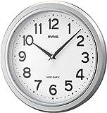 MAG(マグ) 壁掛け時計 モアマグ アナログ表示 連続秒針 シルバー W-648SM-Z
