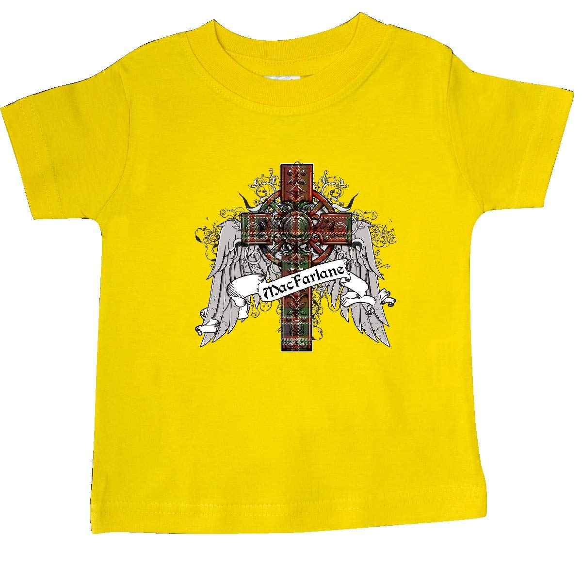 inktastic MacFarlane Tartan Cross Baby T-Shirt