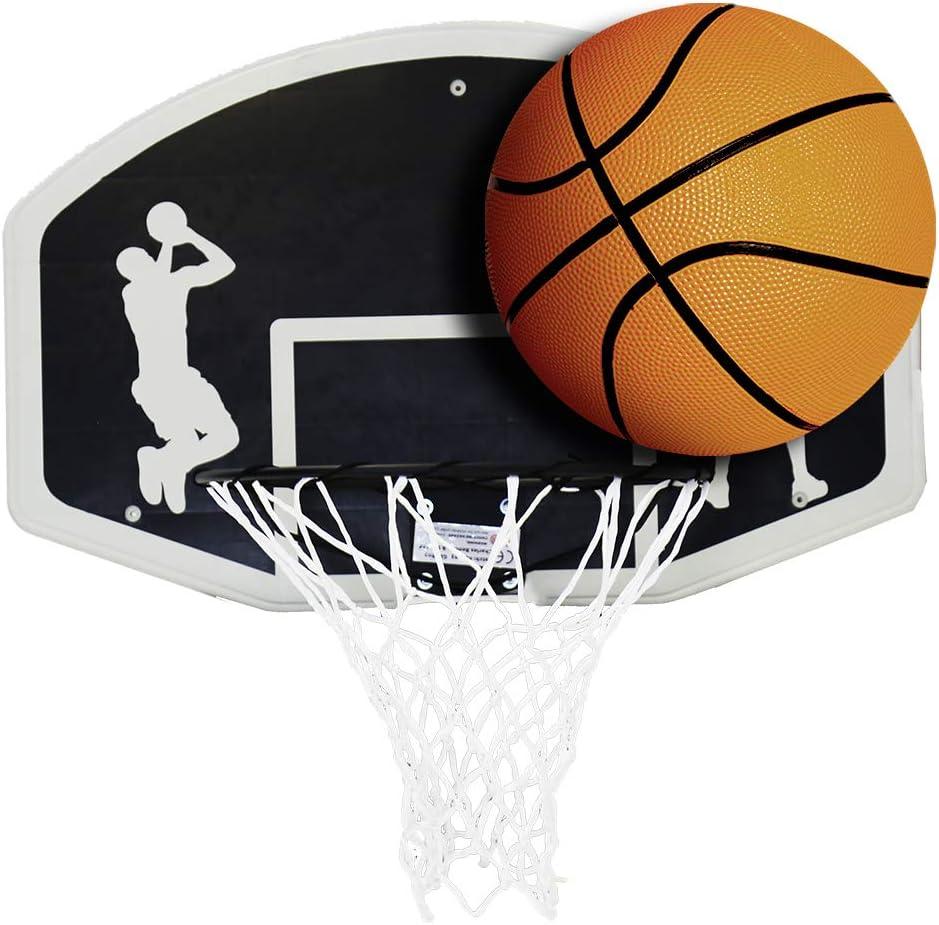 Charles Bentley Basketball Anneau Net et Set Boule pour Le Basketball pour L'Intérieur Extérieur Emploi Toute